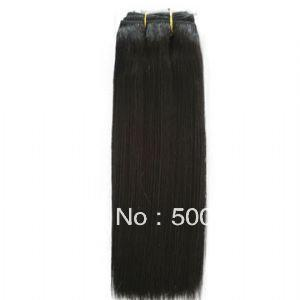jet black brazilian virgin hair weft yaki straight high quality direct from factory 100g(China (Mainland))