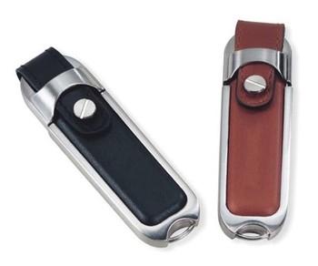 Free shiping Steel Edge Leather USB Flash Drive 4GB 8GB 16GB 32GB 64GB