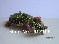 Free Shipping  2013 new  Fashion Pewter Alloy Rhinestone Cz Crystal Tortoise jewelled boxes