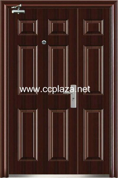 cold-roll steel panel Steel double doors,Security doors,Fire resistant doors,Metal doors,FHM-F001(China (Mainland))