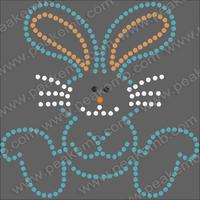 Free Shipping Fast Turnaround Wholesale Rabbit Rhinestone Pattern Iron On Transfer