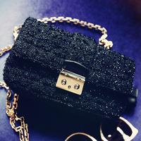 Mikko 2012 winter women's  black baiters chain  lad1520 bag discount sale promotional item best selling hit hot product