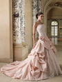 Best Seller Ball Gown Strapless Backless Taffeta Applique Pink Wedding Dress 2013(China (Mainland))