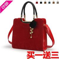 2012 women's handbag  fashion vintage shoulder bag red bridal  marry