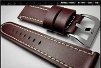 Original Italy Leather 100% Handmade Dark Brown Genuine Top Leather Watch Strap  Watchband Belt  Free Shipping