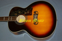 G J200 sunburst folk acoustic guitar golden hardware pearl inlays fretsboard  free shipping bloom music