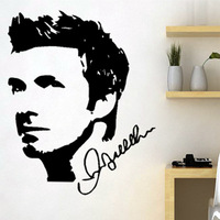 Free Shipping Wall stickers Home decor Size:620mm*820mm PVC Vinyl paster Removable Art Mural Football Beckham Z-57