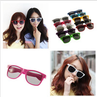 2012 vintage glasses multicolour sunglasses female meters fashion ultralarge male Women