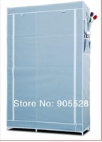 2013 Ruggedized closet,cheap fabric foldable storage Steel pipe and Nov-woven fabric wardrobe 107*46*170cm silver gray colour