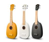 Pineapple 21 black ukulele white string small guitar gift
