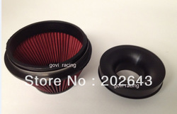 2688-2 air filter and velocity stack with 3.5&#39;&#39; or 4&#39;&#39; neck ,red, special style ,support wholesale and retail(China (Mainland))