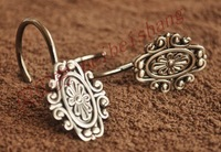 Shower curtain hook metal hook vintage exquisite decorative pattern ,