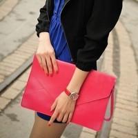 2012 candy color ultralarge envelope clutch adjustable messenger bag handbag messenger bag multi-purpose women's handbag