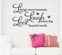 Free Shipping WALL'S MATTER Home Decor Live Laugh Love Wall Stickers Wall Quote Decals