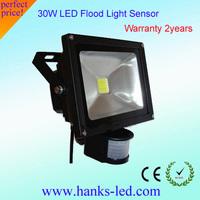 Factory price outdoor light 30w led flood light sensor free shipping