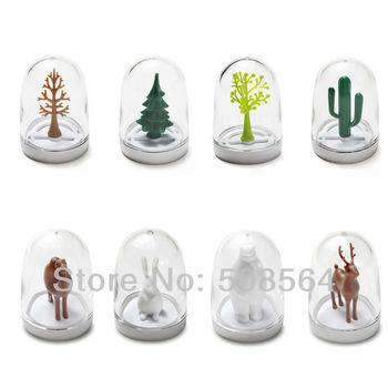 New Mini Cruet Set Spice Jar for Cooking Animal & Season Model 4pcs/set