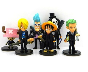 Wholesale Japan anime One piece figure toys 6pcs/set 1 lot 8set free shipping Collection High quality Safe Cheap