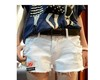 Wholesale Free shipping 2012 women white summer denim short wahsed destroyed hot Clubwear short pants Beach shorts XS-XXL