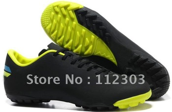Free Shipping Black Neon Green Turf TF Football Shoes For Men's Indoor IC Sports Trainers Outdoor Brand New In Box Hotsale
