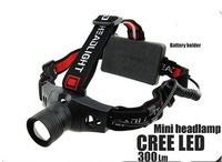 1PC 18650 Headlamp 5W 300 Lumens CREE Q5 LED 3 Mode Waterproof Headlamp Zoomable Headlight For Hiking Camping