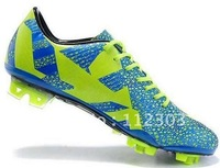 Free Shipping Blue Neon Green Spot Mens Soccer Shoes Men Cheap Football Boots Team Sports Cleats Hotsale Cleat Good Quality