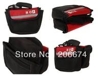 New ROSWHEEL 12461 Bicycle Frame Saddle Bag (Red)+free shipping