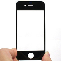 Free Shipping Front Screen Glass Lens for Apple iPhone 4G OS 4 Black