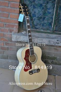 left handed SJ200 peter frampton signature Acoustic Guitar Back / Side / Tiger with Fishman presys blend microphone Pickups