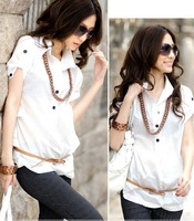 Free Shipping Hot sale new ladies' women's white and working shirt OL blouses,long sleeves shirt Lowest price,G6101