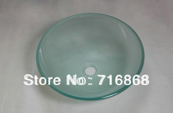 Popular Color Bathroom Washbasin Tempered Glass basin Set X-1161(China (Mainland))