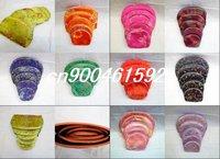 Free shipping! retail 200pcs/40 Sets Mix Silk Nesting Cosmetic Bag Purse Makeup Wallet