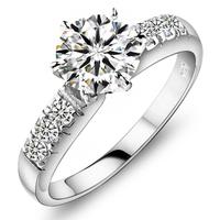 1.7Carat Ladies  s925 silver rings Wedding ring FRlEESHIPPING
