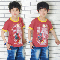 Child summer 2012 child male child t-shirt 100% cotton o-neck big 1106 school bag