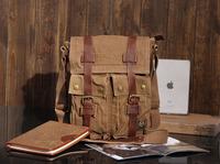 Free Shipping excellent handbag canvas messenger bag brand handbag vintage leather messenger bags Restore ancient ways KH004