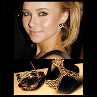 4pairs/Lot Retro Luxury black glaze set diamond stud earrings Popular Club earrings Free Shipping