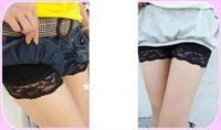 2013 spring clothing girl lady necessary lace three minutes of pants prevent run safety pants pants backing pants Free Shipping