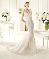 Free Shipping!!  2013 New Sequined tulle silky slim trumpet Wedding dresses Bridal Gown Custom Size/Color Wholesale/Retail