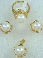 South Seas sallei pearl 10mm white shell pearl set gift belt chain 18