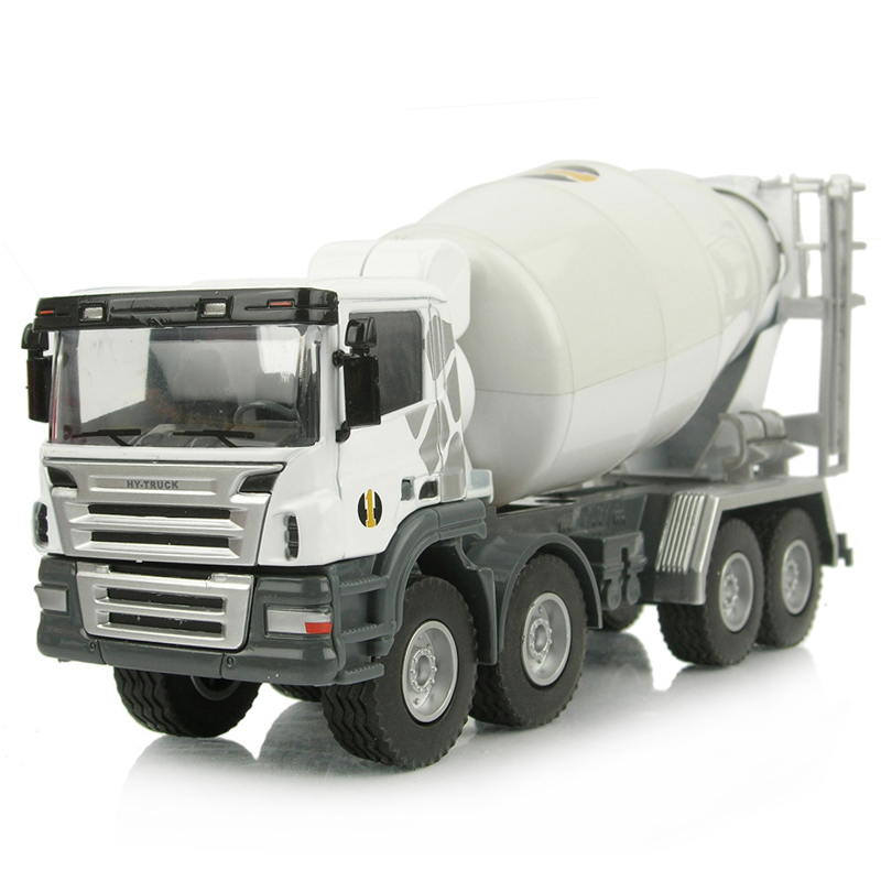 free shipping, Toy alloy engineering car tanker cement mixer truck model toy,(China (Mainland))