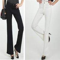 free shipping 2011 spring slim cotton casual pants women's bell-bottom long