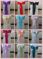 free shipping satin  chair sash for weddings/chair sash/chair tie back
