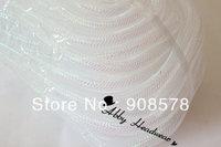 Tubular Crin white shimmer - 16mm - 60 Yards of Crinoline Cyberlox Stretch Tubing
