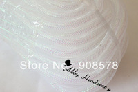 Tubular Crin white shimmer - 16mm - 60 Yards of Crinoline Cyberlox Stretch Tubing