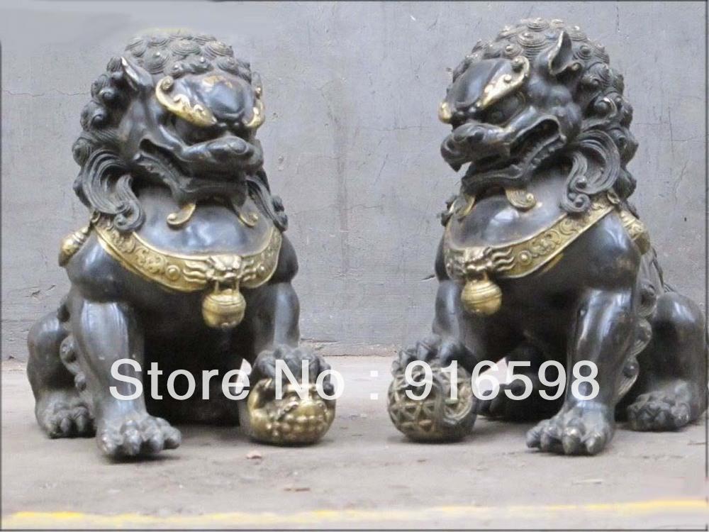 Foo dog statue temple - photo#24