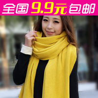 Minimum order $15 free shipping Scarf autumn and winter knitted shawl male women's thick scarf muffler scarf