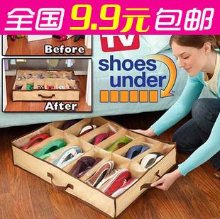 Minimum order $15 free shipping Large capacity tv flavor storage shoe box 12 transparent storage shoe