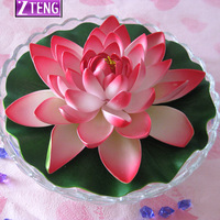 Super artificial lotus flower plastic flower artificial flower spatterdock single artificial flower living room decoration