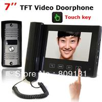 Door Phone Intercom Touch Key 7 Inch TFT Monitor LCD Color Video Rain-proof Outdoor Unit 11 kinds of door bell rings
