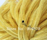 Tubular Crin Gold Bright - 16mm - 60 Yards of Crinoline Cyberlox Stretch Tubing