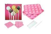 New silicone non stick cake pop set baking tray mold birthday party 20 units  020077